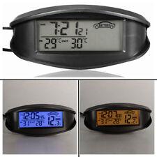 UNIVERSALE DIGITALE LCD TERMOMETRO TEMPERATURA OROLOGIO BATTERIA VOLTMETRO AUTO