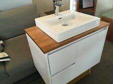 Bathroom Vanity Top, Solid Wood, Oak Stain, Lacquered 750mm