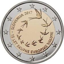 2 euros Eslovenia 2017 10º aniversario euro. Envio combinado SC