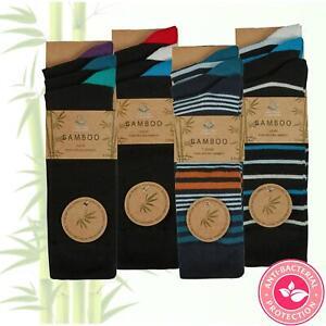 Mens Black Luxury Bamboo Super Soft Anti Bacterial Socks 6-11 MultiPack UK 6-11