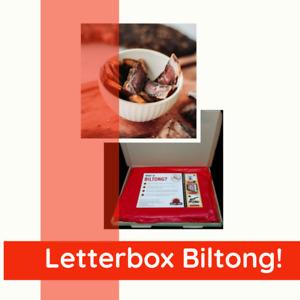 Billies & Tong Biltong & Droewors Letterbox Birthday Anniversary Gift