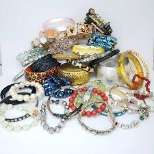 Lot of 36 Bracelets - Bangles Cuffs Enamel Plastic Beaded Junk Drawer Bulk