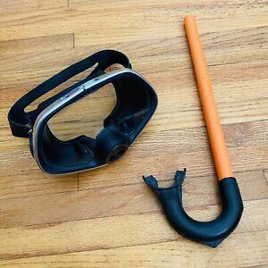 Vintage Healthways Scubaview Scuba Dive Mask & Vintage Snorkel