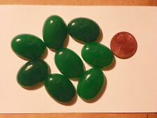 Australian Chrysoprase  18x25x6 MM. Oval Cab Cabochon Simulated One Piece.