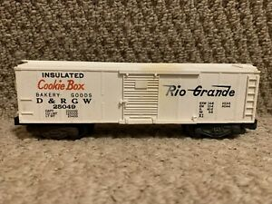 AMERICAN FLYER 25049 OPERATING Rio Grande Cookie BOX CAR