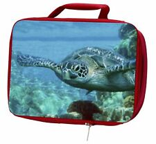More details for turtle by coral insulated red school lunch box/picnic bag, af-t20lbr