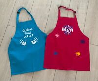 Personalised kids apron painting craft drawing children's boy girl any name