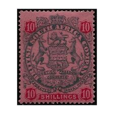 Rhodesia stamps 1896 Badge, 10 Shillings slate/vermilion SG.50 MH -F502