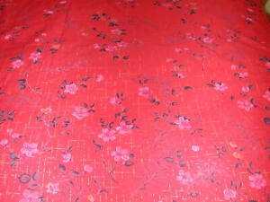 New Cotton Blend Red Floral Print Duvet Cover - Full/Queen