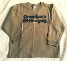 "OLD NAVY / Gap "" GRANDPA'S LITTLE GUY "" Khaki T Shirt Top : 5T  Age 4 - 5  BNWOT"