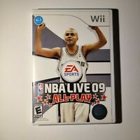 NBA Live 09 All-Play Nintendo Wii 2008 E-Everyone Complete Tested/Working