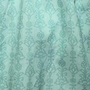 Waverly King Dust Ruffle Bed Skirt Byzance Bloom Teal Floral Cotton 2019