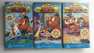 DISNEY TIMON & PUMBAA COMPLETE COLLECTION VHS CHARACTERS FROM THE LION KING