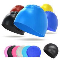 Swimming Cap Waterproof Silicone Swim Pool Hat for Adult Men Women Swim Cap