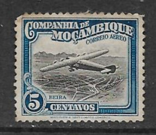 MOZAMBIQUE COMPANY POSTAL ISSUE - 1935 MINT AIR MAIL - PLANE OVER BEIRA - 5 Mc
