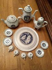 Venetian Lagoon Porcelain Coffee / Tea set Perfect condition, never used.