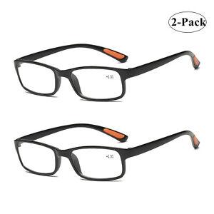 2 x Slim Reading Glasses Mens Womens Unisex Reader 1.0 1.5 2.0 2.5 3.0 3.5 4.0