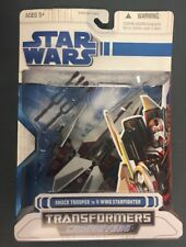 STAR WARS TRANSFORMERS CROSSOVERS SHOCK TROOPER V-WING STARFIGHTER