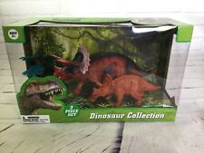 Triceratops Dinosaur Collection Figure Educational Toy Kids 3 Piece Set