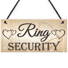 Shabby & Chic Wedding Sign Ring Security Pageboy Best Man Plaque Bride Marriage