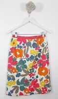 boden Size 6R Pencil Skirt Floral 90s White Mix Blogger Summer party