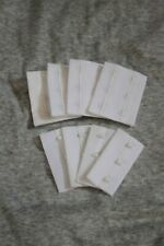 4 sets WHITE hook and eye Bra closure Repair replacement sewing supplies 3 hooks