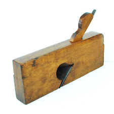 "Antique 9-3/8"" Wood Beech Skew Rabbet Molding Plane : BUFFALO TOOL CO (ca. 1865)"