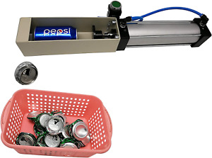 Aluminum Can Crusher, Heavy Duty Pneumatic Cylinder Soda Beer Can Crusher, Eco-F