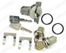 Ignition Door Lock Switch Cylinder Set Chrome W/ Keys for Chevy Pontiac