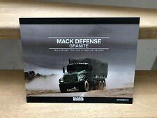 Mack Defense GRANITE militarised tractor and carrier trucks brochure