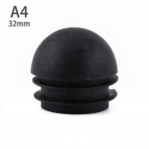 5Pcs Domed Round Plastic Black Blanking End Caps Pipe Inserts Plug 19 22 25 3 -D