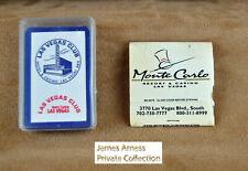 James Arness Marshal Dillon Gunsmoke VTN Las Vegas Club Mini Cards & Matchbook