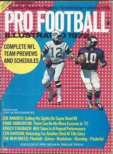 1972 Pro Football Illustrated magazine Joe Namath, New York Jets, Fran Tarkenton