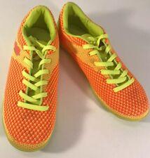 Brava Soccer Indoor Court Shoes Men's Size 8 155836 Neon Yellow/Green Orange