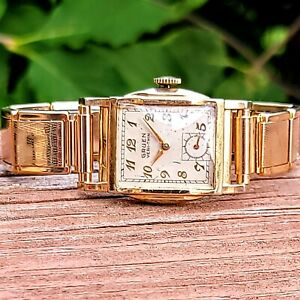 1950 GRUEN Veri-Thin Watch 17J Cal. 415 Swiss Wristwatch INCLUDES LEATHER STRAP