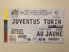 TICKET MATCH FOOTBALL PARIS PSG JUVENTUS TURIN UEFA SUPER COUPE 15 JANVIER 1997