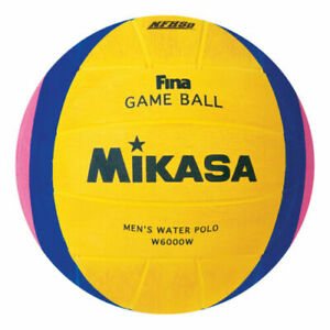 Mikasa W6000W FINA Olympic Water Polo Game Ball Yellow Blue Pink Size 5
