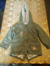 *Sale*L@@k* Infant Girls karky Green hooded Coat. 12-18 months. Used