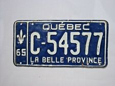 1965 QUEBEC Vintage License Plate TRACTOR # C-54577