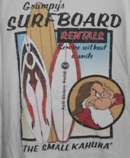 "Disney Grumpy's Surfboard Rentals Surfing Kahuna Tshirt XXL 26"" Pit2Pit J-45"