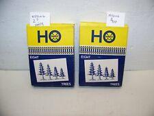 Rare Marx H.O. scale boxed pine trees plasticville