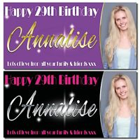 Personalised party banners Birthday Photo banner birthday Photograph paper vinyl
