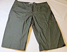 Womens women's ladies Ashley Brent 8 bermuda shorts dark green EUC Pre-Owned