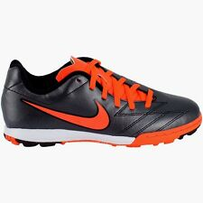 Nike Turf Soccer Cleats/Sneakers Jr T90 Shoot Black/ Total Crimson Boys Size 3