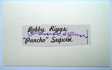 PANCHO SEGURA – AMERICAN TENNIS PLAYER AUTOGRAPH