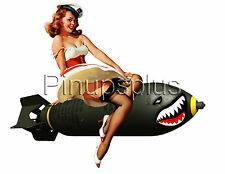 Pinup Girl Waterslide Decal Sticker Bomber Art for guitars and much more S382