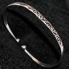Armreif Silber 925 Torque Armspange Kugel Reif Damen Bangles Indien Hippie
