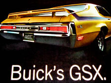 1970 BUICK GSX SKYLARK ORIGINAL AD-poster/photo/print-1971-1972/455 V8 engine/GS