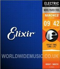 Elixir 12002 Nanoweb Super Light Gauge Electric Guitar Strings .009 - .042