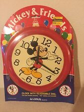 VINTAGE Mickey Mouse Collectible Lorus Quartz Clock- NEW IN PACKAGE